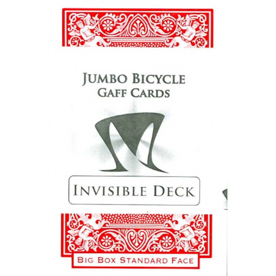 Jumbo Bicycle Gaff Cards Invisible Deck