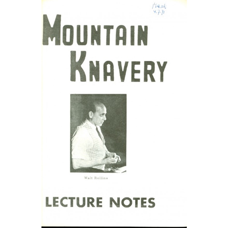 Mountain Knavery Lecture Notes