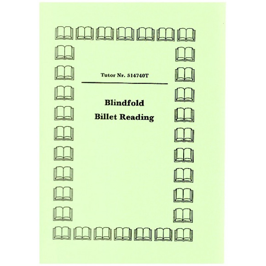 Blindfold Billet Reading