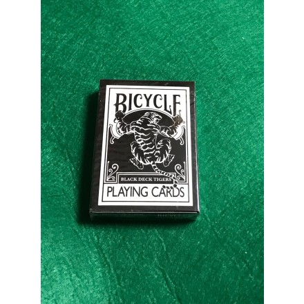 Bicycle Black Deck Tigers Playing Cards