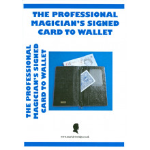 The Professional Magician's Signed Card To Wallet